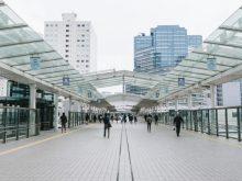 東京の会社へ向かう駅